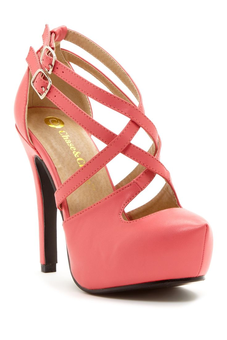 Coral Strappy Mary Jane Pumps