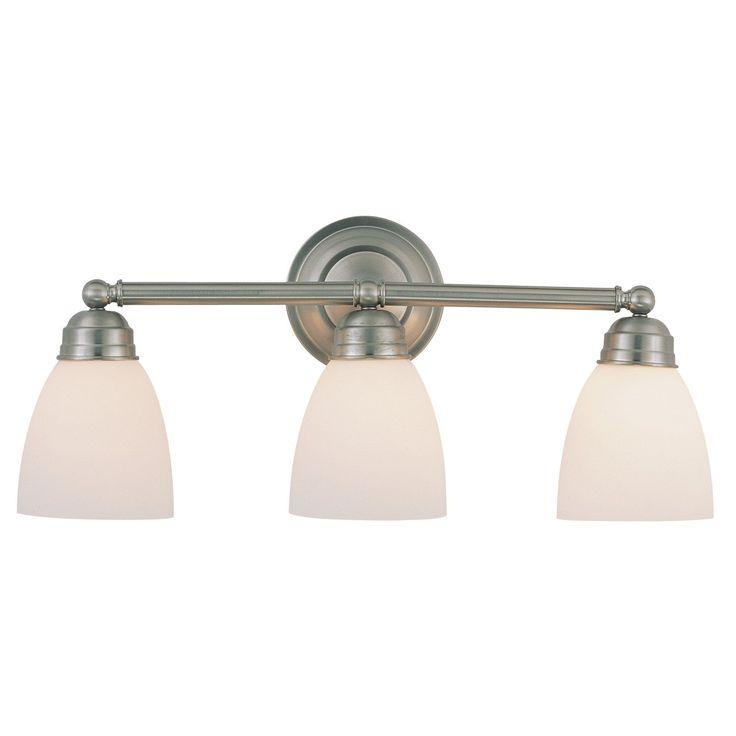 Bel Air Lighting CB-3357-BN 3 Light Brushed Nickel Bathroom Light Bar (Lights), Black (Metal)
