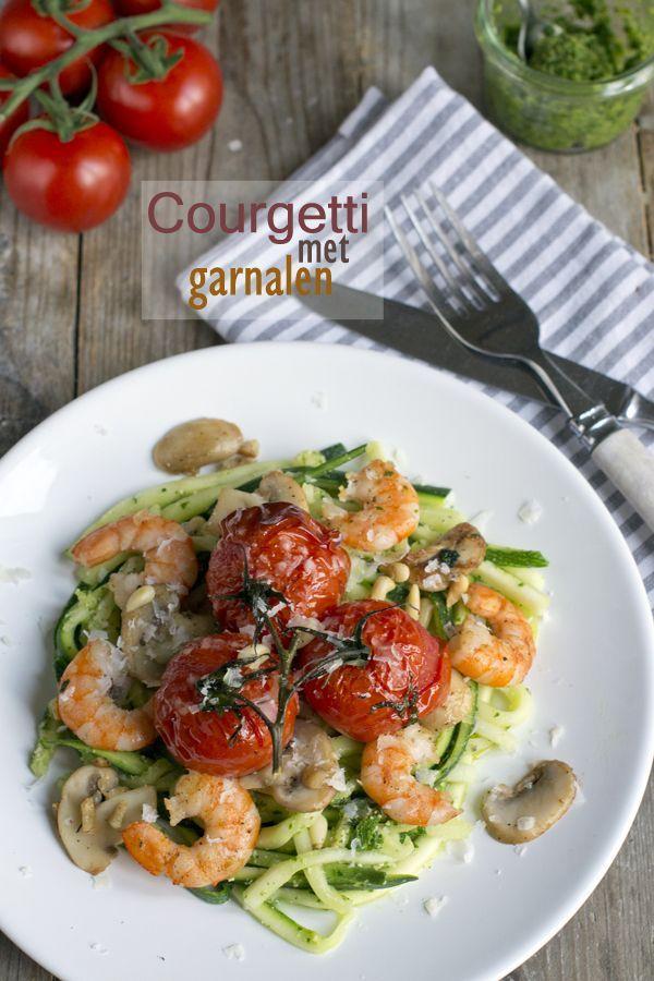 Courgetti 02 zonder garnalen zou het toch ook lekker kunnen zijn.