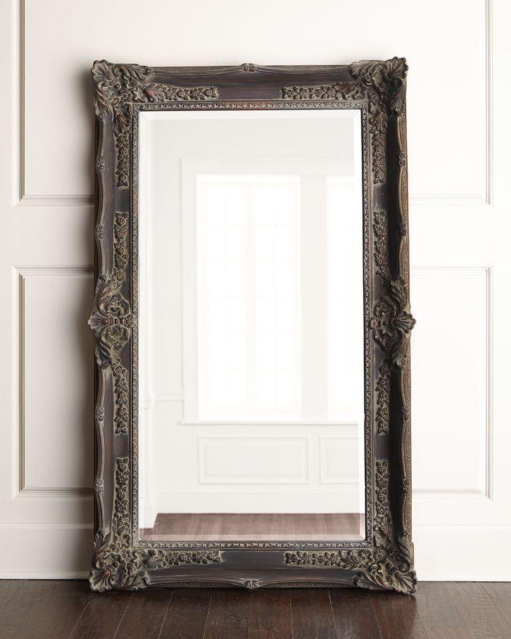 "Bassett Mirror, Inc. ""Antique French"" Floor Mirror"