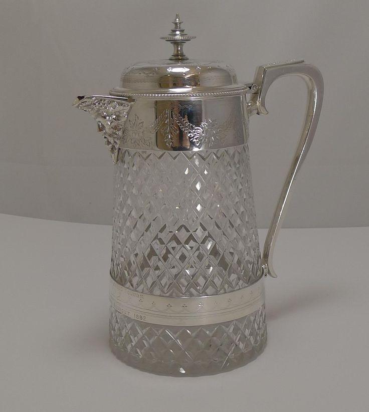 Antique English Wine / Claret Jug - Hunt Trophy - 1882