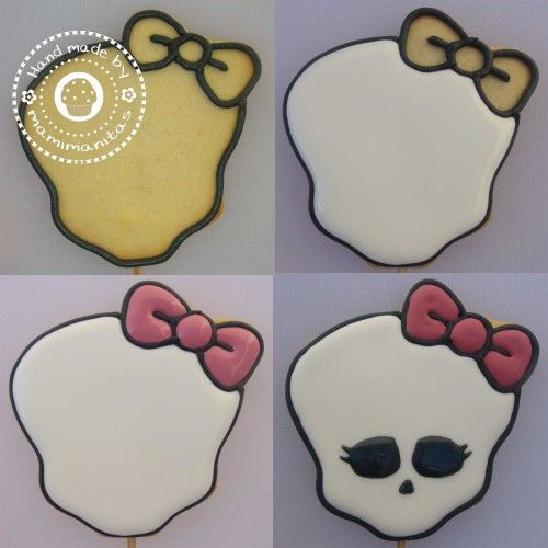 Pirulletas Monster High » Mamimanitas cookie how to make from Royal icing