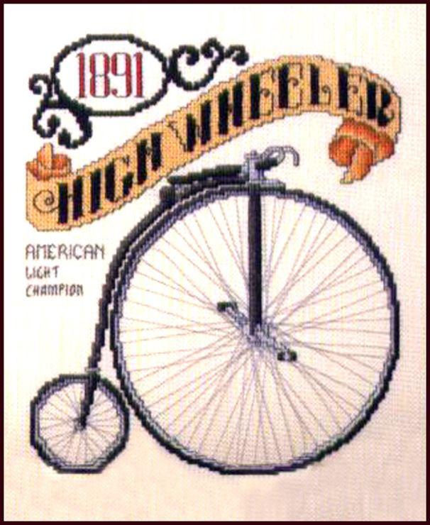 Gallery.ru / Фото #5 - Старинный велосипед. Спасибо Delerje за схему. - Mila65