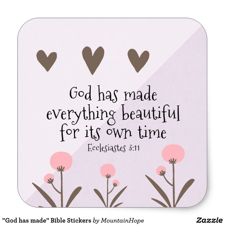 """""""God has made"""" Bible Stickers"""