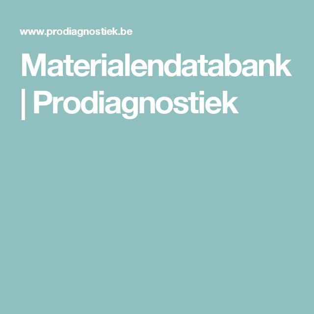 Materialendatabank | Prodiagnostiek