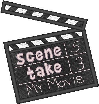Movie Marker Applique 4x4 and 5x7