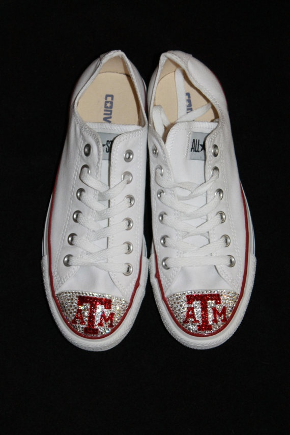 Custom Sports Texas A & M bling converse adult by glamourtoes, $140.00.....@Colbie Hubenak you need these!!!!