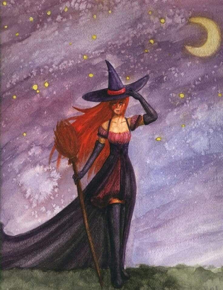 картинки фэнтези ведьмочки на метле начинает хромать