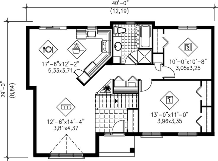 36 best floor plan images on Pinterest | Design floor plans, Small ...