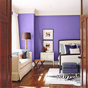 would love to have a purple bedroom, but I'm not sure the hubby would let me!