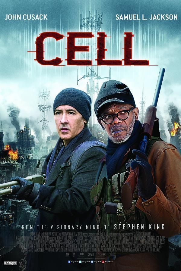 Cell    Support: Bluray 1080    Directeurs: Tod Williams    Année: 2016 - Genre: Horreur / Science-Fiction / Thriller - Durée: 98 m.    Pays: United States of America - Langues: Français, Anglais    Acteurs: John Cusack, Samuel L. Jackson, Isabelle Fuhrman, Owen Teague, Clark Sarullo, Anthony Reynolds, Erin Elizabeth Burns, Stacy Keach, Alex ter Avest, Wilbur Fitzgerald, Joshua Mikel, Catherine Dyer, Griffin Freeman, Ethan Andrew Casto, Rey Hernandez