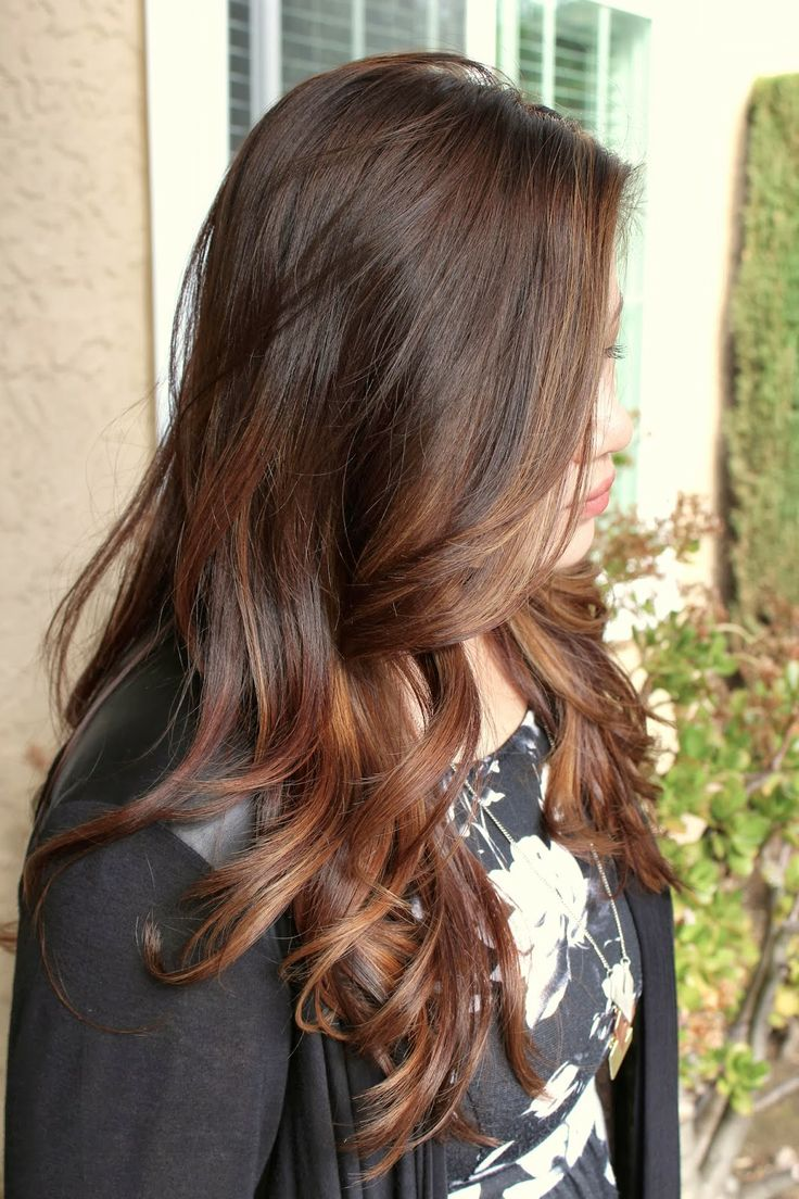A demonstration of a natural sombre look without the use lighter-blonde color made possible!