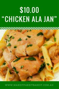 "$10.00 ""Chicken Ala Jan"""
