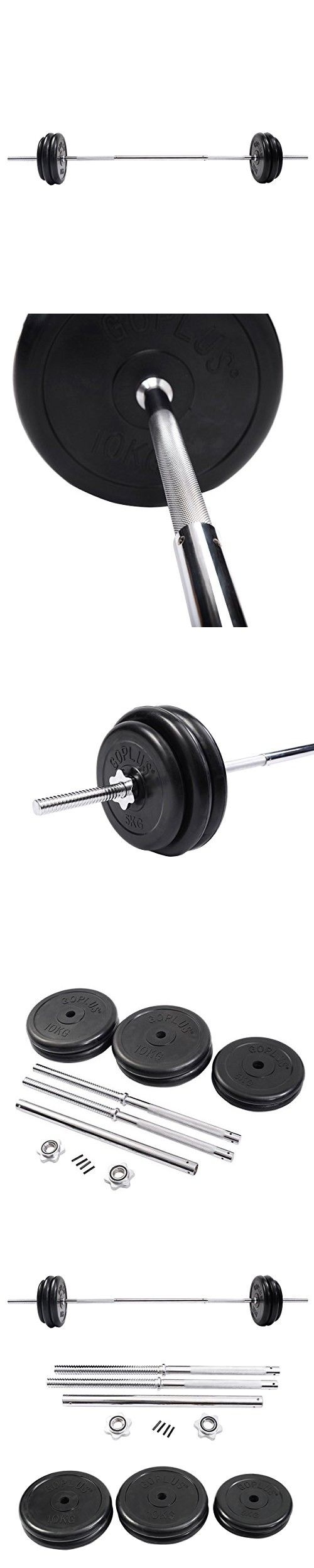 Giantex 125 Lb Barbell Dumbbell Weight Set Gym Lifting Exercise Curl Bar Workout