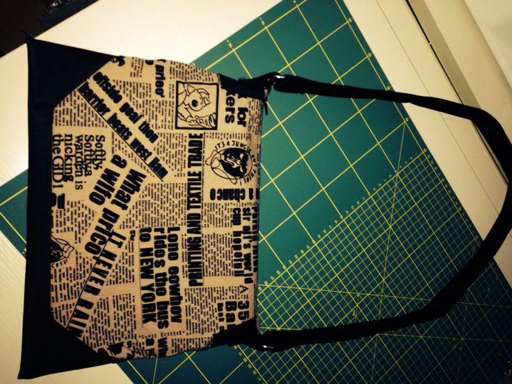Newspaper print bag by Keyo Designs