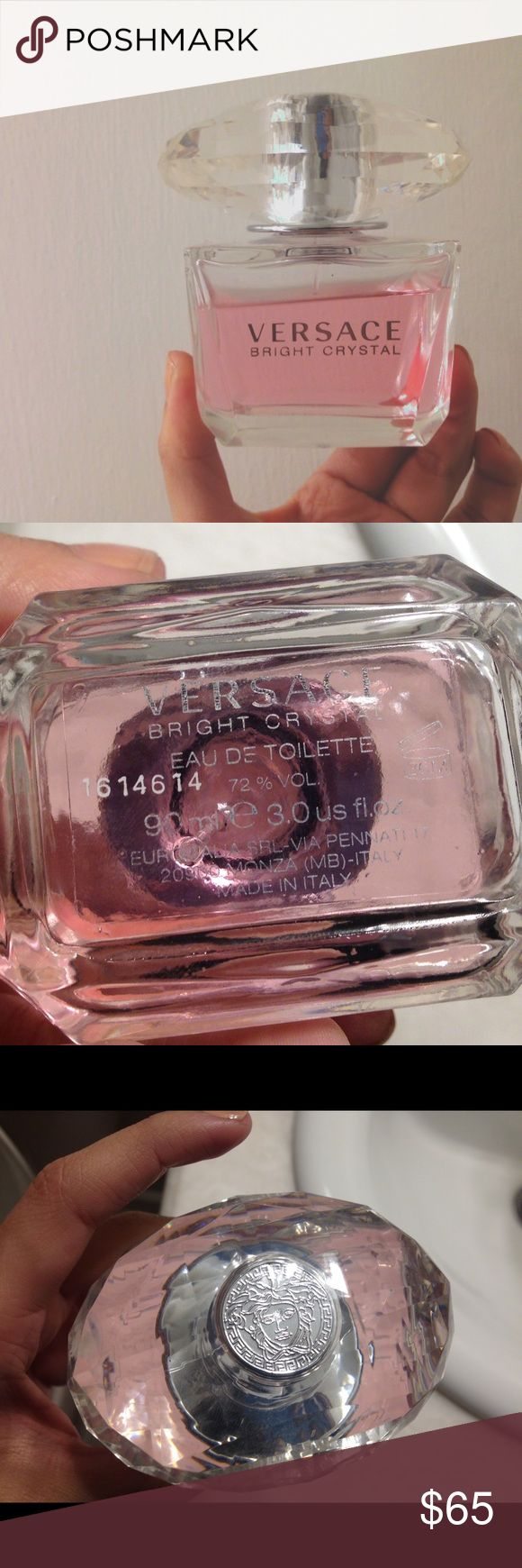 V e r s a c e Bright Crystal 3.0 oz 10% used got a month ago. Authentic 90ml 3.0 oz Versace Other