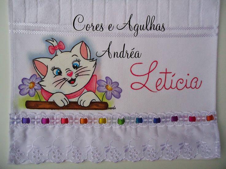 Cores e Agulhas: Toalhinha Infantil Pintada!!
