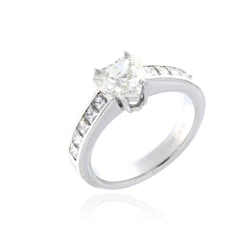Designer Heart Engagement Ring