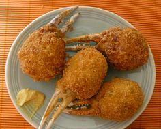 Stuffed-crab-claws: add more sugar, white pepper and oyster sauce to the rice paste master recipe. The paste was difficult to coat in egg and panko, refrigerate first next time?