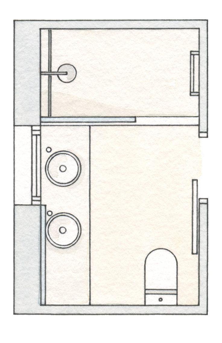M s de 25 ideas incre bles sobre planos de ba os peque os en pinterest planos ba os planos de - Planos de cuartos de bano ...