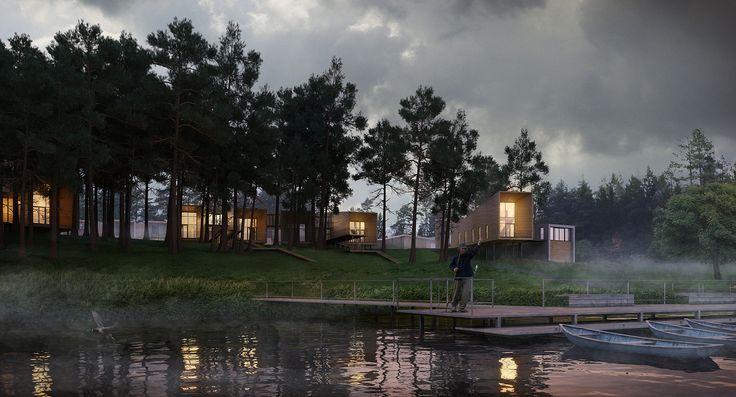 Минские архитекторы предложили стильный проект VIP-турбазы на берегу реки | Коммерческая недвижимость Беларуси. Abu.by-«AБ ГРУПП», продажа, покупка, аренда, развитие и управление недвижимостью. Инвестирование, проектирование, строительство.