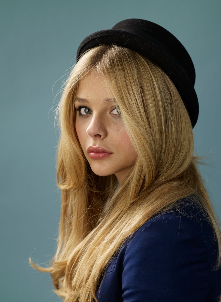 Chloe Grace Moretz. Maybe want my hair this color. And people say I look like her?