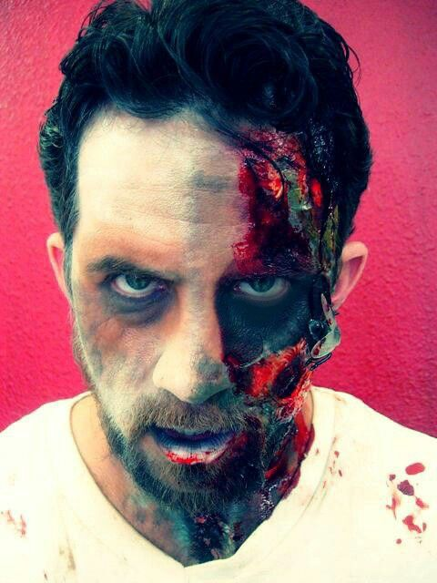 Male Zombie Makeup