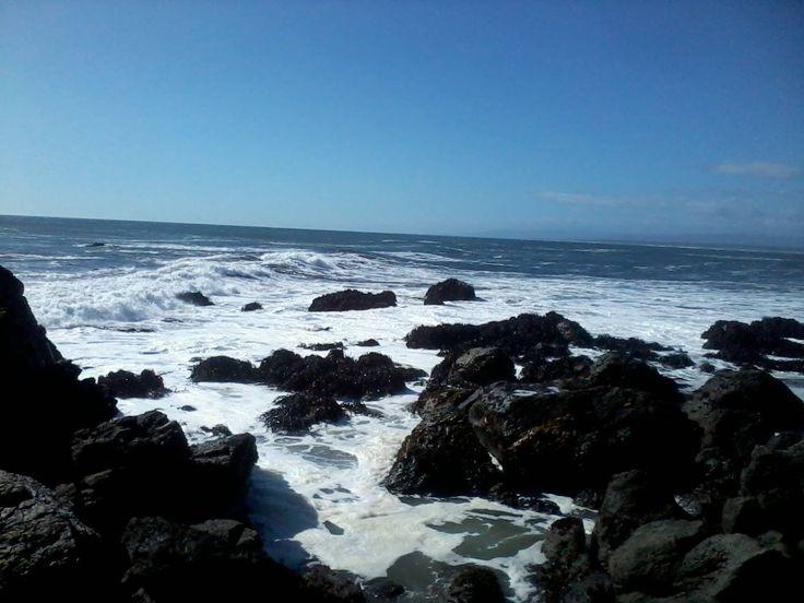El mar de Quidico, en la Región del BioBío. La foto la mandó Pamela Andrea Escobar