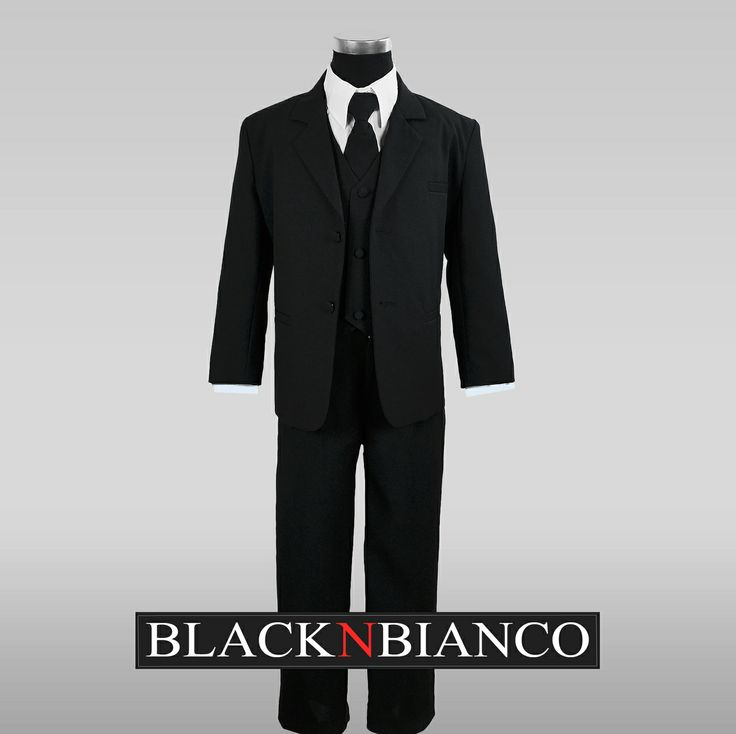 Black N Bianco - Boys Suit Black Dresswear Set, $19.99
