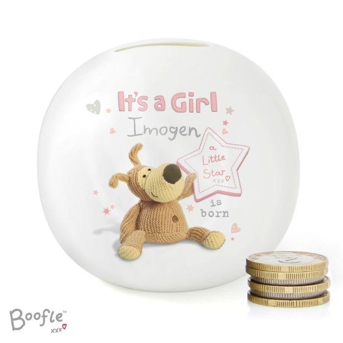 Personalised Money Box Baby It's a Boy Girl Birthday Gift Saving Box Newborn