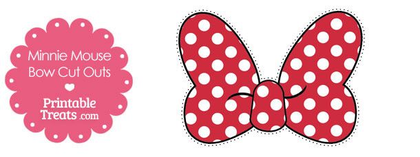 free printable minnie mouse bow cut outs f te th me minnie mouse pinterest minnie mouse. Black Bedroom Furniture Sets. Home Design Ideas