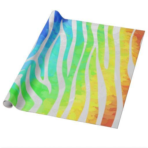 Arco-íris da zebra e impressão branco