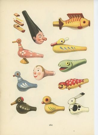 Illustrated plate of Czech toys by Emanuel Hercik (1892 -1957). via Rimbambins & Rimbambelles