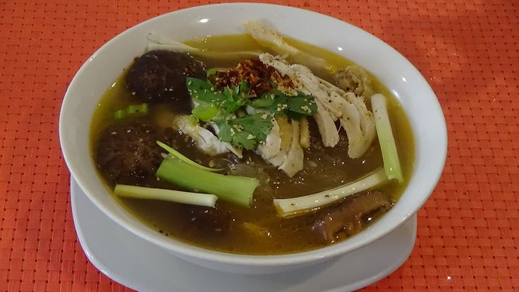 Delicious Healthy Chicken With Shiitake Mushroom ,Glass Noodle Soup