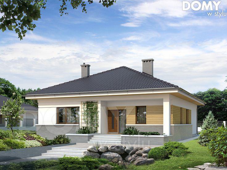 Projekt domu As 2 - wizualizacja frontowa