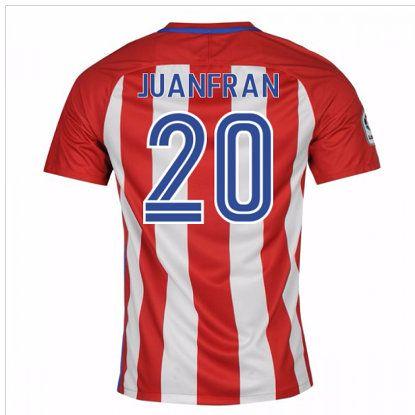 Primera Equipacion Camiseta Atletico de Madrid Juanfran 2016-2017