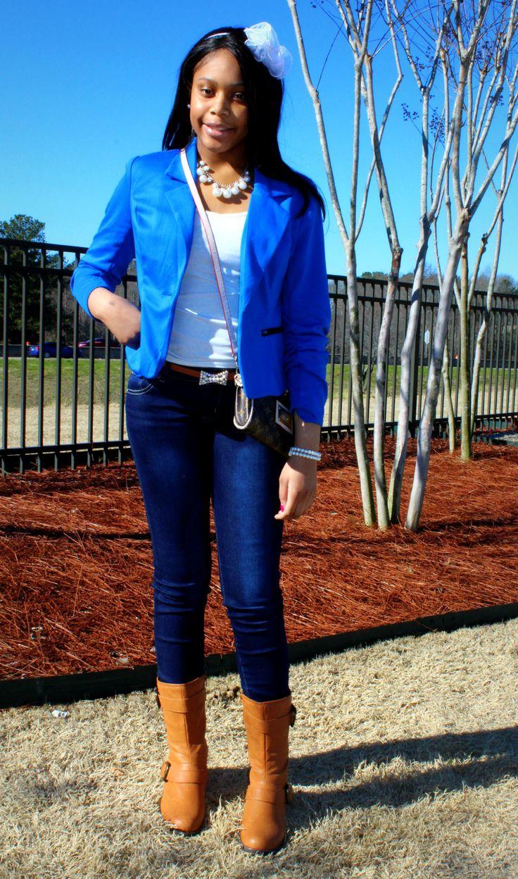 teenage girl in skinny jeans hent
