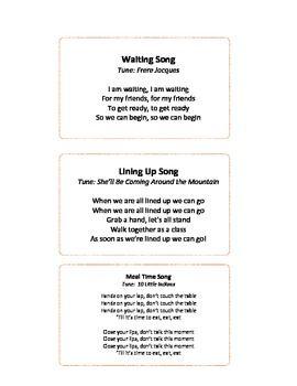 EASY TRANSITION SONGS FOR ECE - TeachersPayTeachers.com