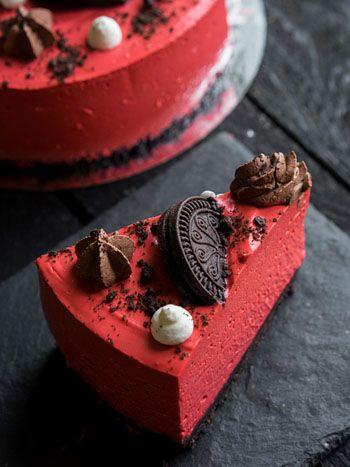 "Холодный чизкейк ""Красный бархат"" (red velvet cold cheesecake) - Andy Chef - блог о еде и путешествиях, пошаговые рецепты, интернет-магазин ..."