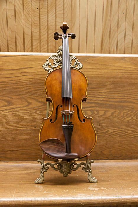 Handmade, restored stringed instruments: violins, mandolins, guitars, cellos; bow repairing.