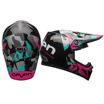 Bell MX-9 Seven Soldier w/MIPS Womens Motocross Off Road Dirt Bike Helmets