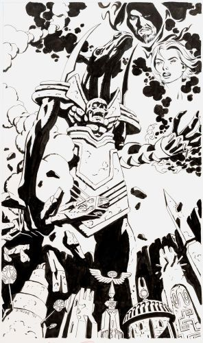 Original Comic Art:Covers, Steve Rude Arcana Mater Cover Original Art (Edizioni LoScarabeo, 2001)....