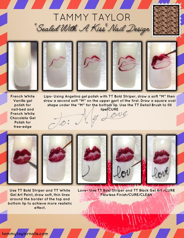 "Tammy Taylor ""Sealed With A Kiss"" Nail Design"