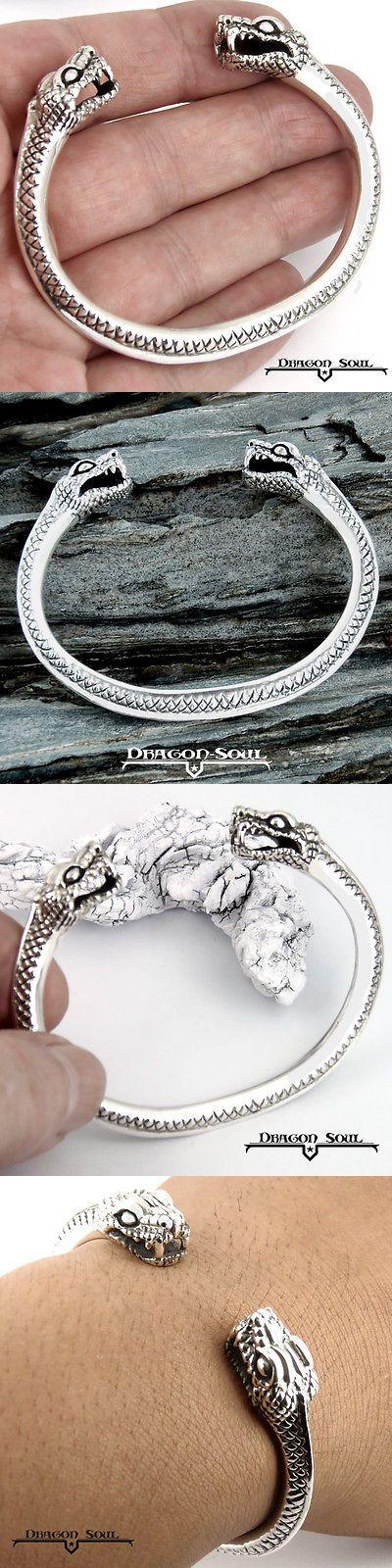 Bracelets 98483: 925 Sterling Silver Viking Midgard Serpent Torc Bracelet Dragon-Soul $15-Off! -> BUY IT NOW ONLY: $89.9 on eBay!