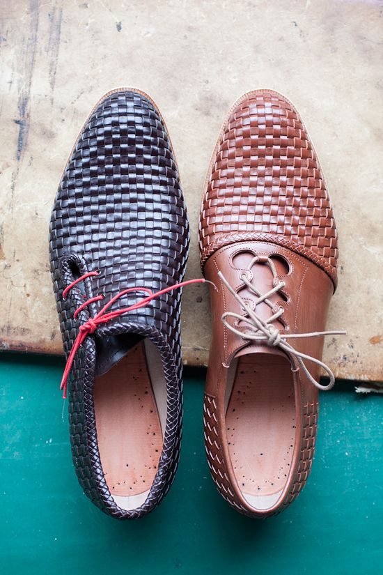 Don't know why, but I really have a thing for woven leather shoes.