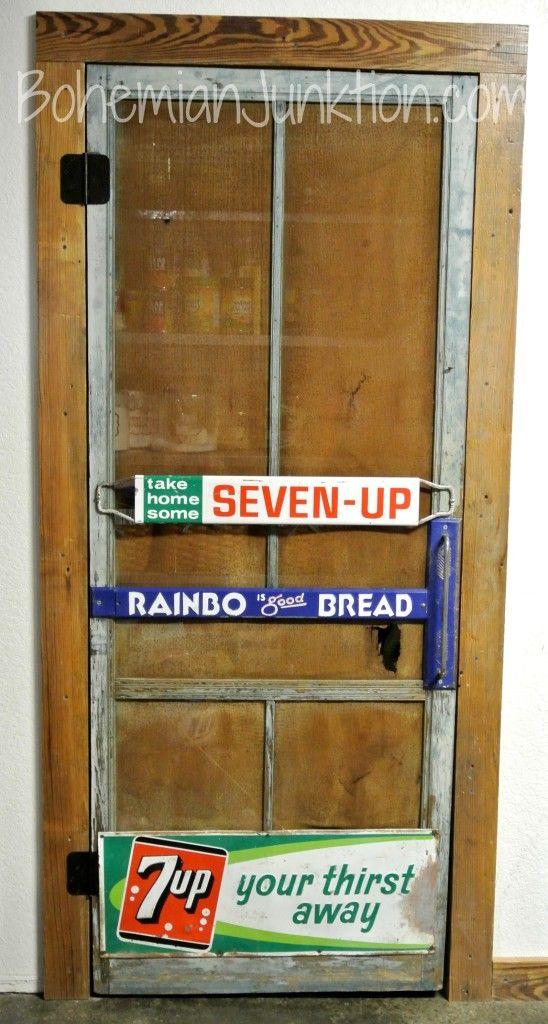 Vintage screen pantry door / Bohemian Junction featured on FunkyJunkInteriors.net