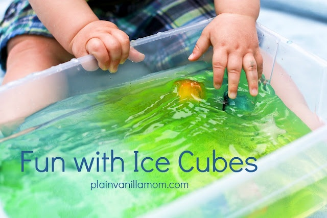 Ice Ice Baby. Fun with Ice Cubes for the Hot Days of Summer. Pinned by The Sensory Spectrum.