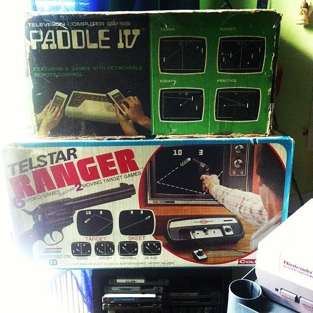 On instagram by lexie_hartin_87680 #retrogames #microhobbit (o) http://ift.tt/1Quj7Of 2 in boxed pong consoles #old #vintage #rare #games #videogames #oldgames  #vintagegames #pongconsoles #pong #boxed