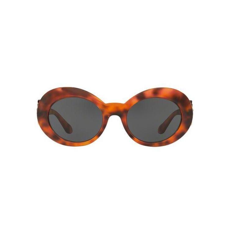 Versace Women's VE4329 GB1/87 53 Oval Grey Sunglasses
