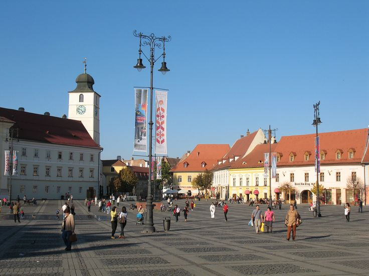 Piața Mare. Sibiu, Transylvania. A beautiful romanian city.